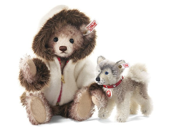 Steiff 036682 Hudson Teddybär 26 cm mit Husky Mohair