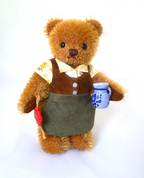 Teddy Hermann 013150 Ludwig, der Apfelwein-Bär 15 cm