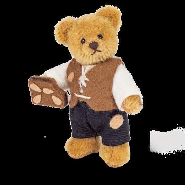 Teddy Hermann 154655 Miniaturbär Hänsel 10 cm