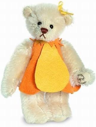 Teddy Hermann 151531 Teddybär Tulpe Miniatur Mohair 9 cm limitiert