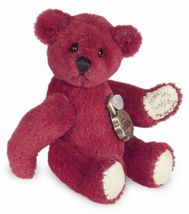 Teddy Hermann 153931 Teddy Rot Miniatur 4,5 cm