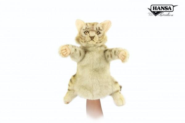 Hansa 7960 Leopardkatze Handpuppe 35 cm
