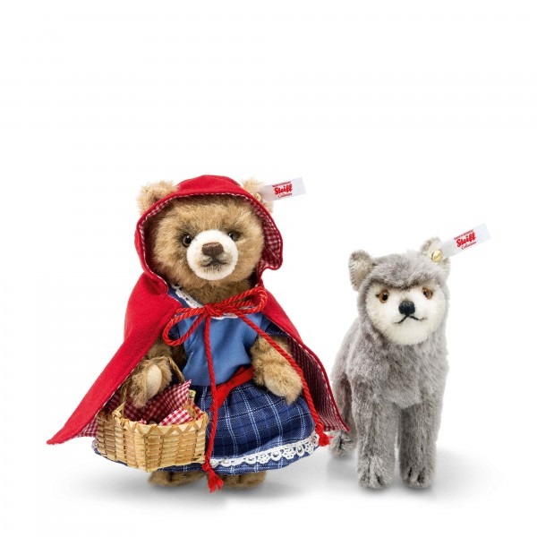 Steiff 021350 Märchenwelt Rotkäppchen und der Wolf