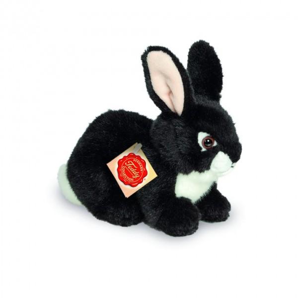 Teddy Hermann 937814 Hase sitzend schwarz 18 cm
