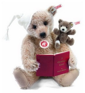 Steiff 682056 A Christmas Carol Teddy Bear Set Mohair 30 cm USA