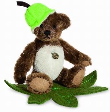 Teddy Hermann 162520 Teddybär Kastanie Miniatur Mohair 10 cm