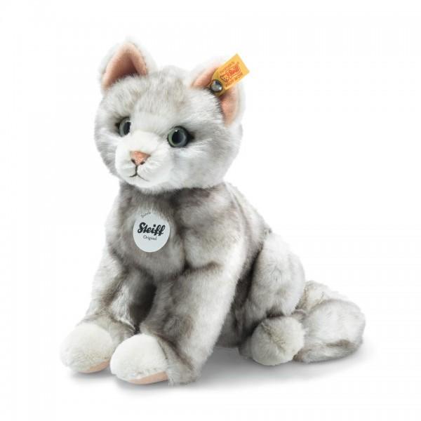 Steiff 122316 Filou Katze 21 cm grau gespitzt sitzend