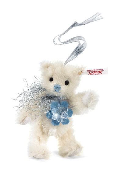 Steiff 035982 Teddybär Schneeflocke Ornament 10 cm Mohair