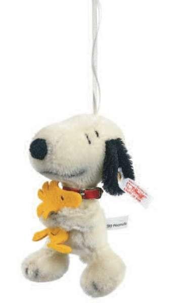 Steiff 681912 Snoopy & Woodstock, The Best Friends Ornament Mohair 12 cm USA