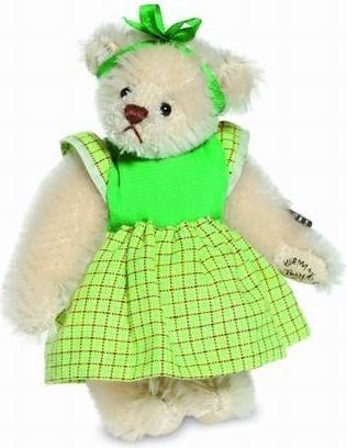Teddy Hermann 157175 Teddybär Monika Miniatur Mohair 9 cm limitiert
