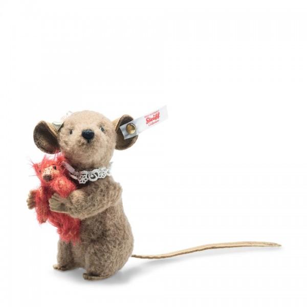 Steiff 006142 Xenia Maus 11 braun mit Teddybär