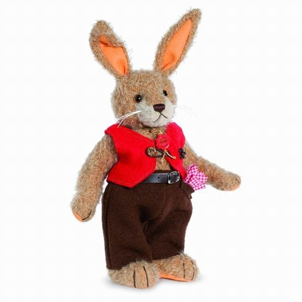 Teddy Hermann 101246 Hasenvater Mohair 35 cm limitiert Hase