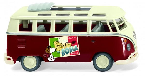 Wiking VW T1 Sambabus Peanuts Snoopy Saluti Da Roma
