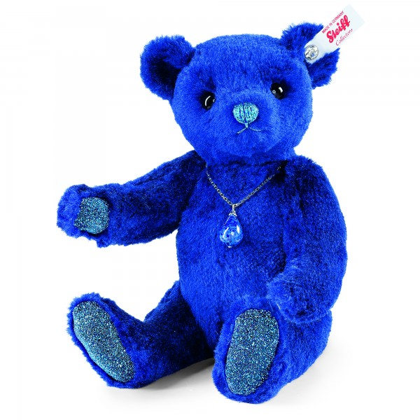 Steiff 034237 Lapislazuli Teddybär Seidenplüsch 26 cm