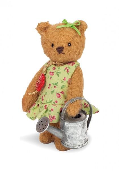Teddy Hermann 102014 Teddybär Grete 14 cm mit Gießkanne