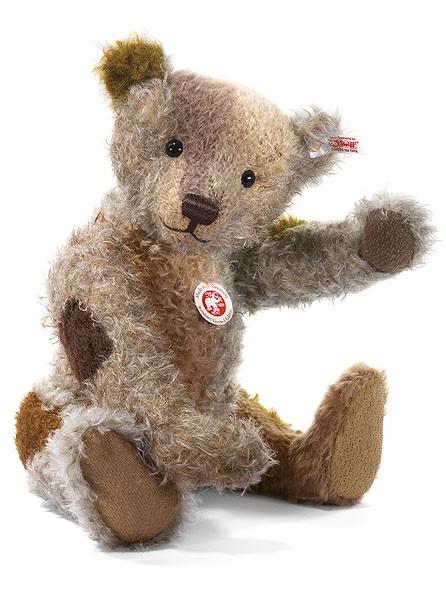 Steiff 036477 Reinhard, der Schulte Patchwork Teddybär Mohair 40 cm limitiert