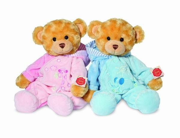 Teddy Hermann 913528 Teddybär Schlafanzugbär rosa 39 cm