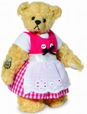 Teddy Hermann 153535 Teddybär Zilli Miniatur Mohair 9 cm limitiert