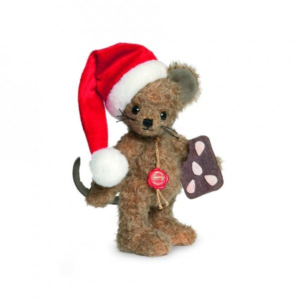 Teddy Hermann 148180 Weihnachtsmaus 18 cm