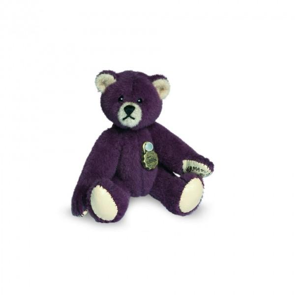 Teddy Hermann 154075 Teddybär aubergine Miniatur 6 cm