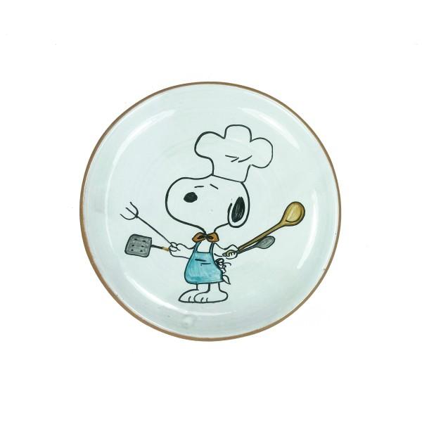 Terracotta Teller Snoopy als Koch