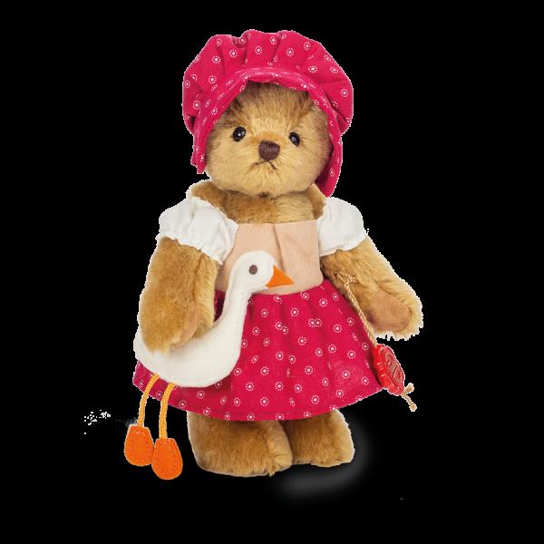 Teddy Hermann 118510 Teddybär Gänsemagd 23 cm