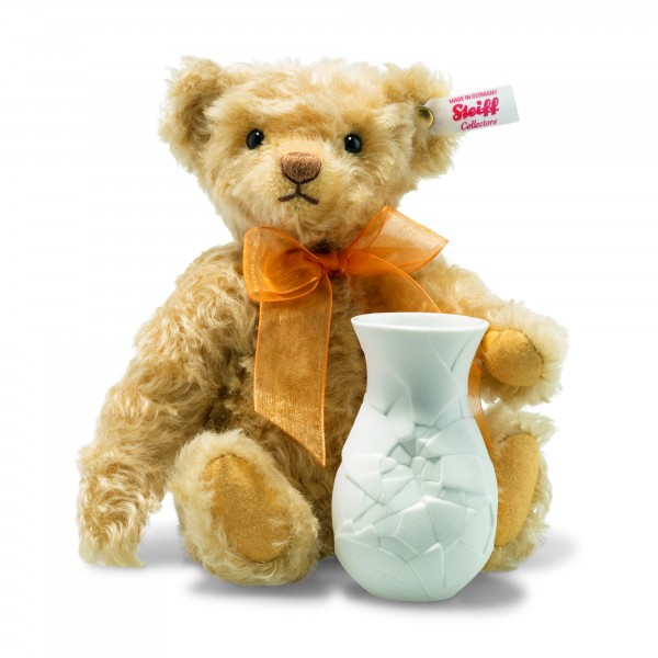 Steiff 006753 Sunflower Teddybär 24 cm mit Vase