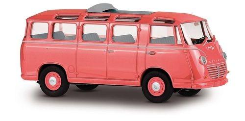 DreiKa 94175 Goliath Express 1100 Luxusbus Korallenrot, Dach offen