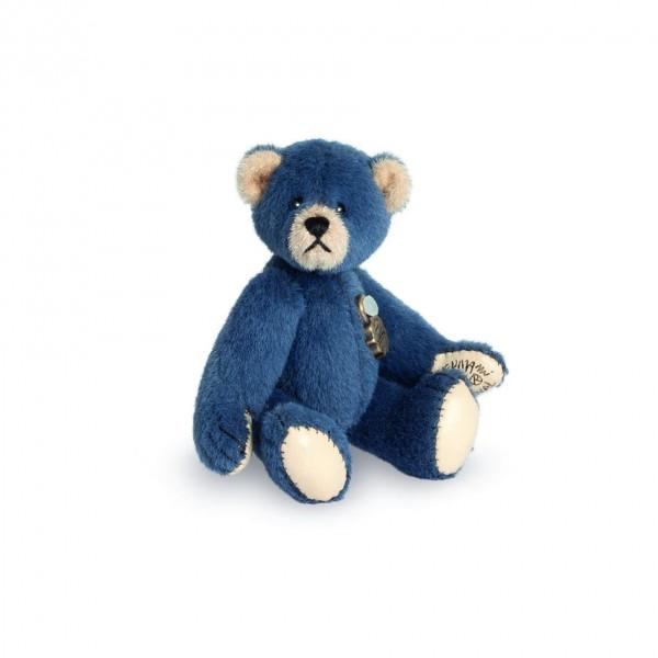 Teddy Hermann 154181 Teddybär blau Miniatur 6 cm