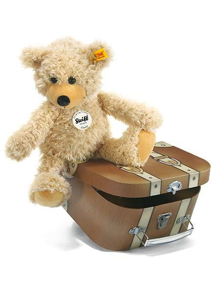Steiff 012938 Charly Teddybär beige 28 cm mit Koffer