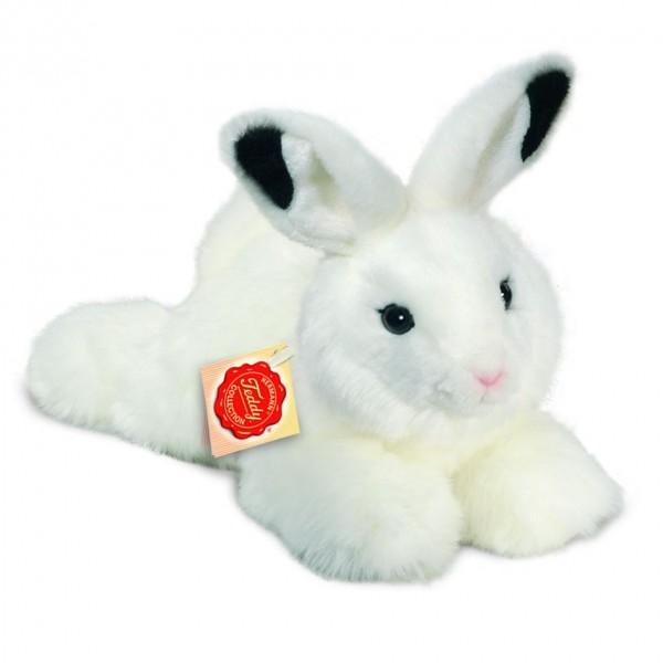 Teddy Hermann 937548 Hase liegend weiß 28 cm
