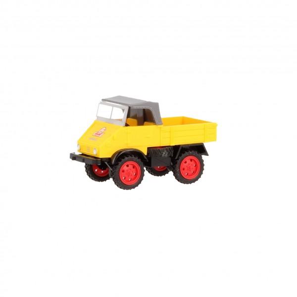 Wiking Unimog U 411 Steiff gelb mit grauem Verdeck