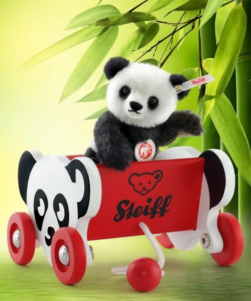 Steiff 683510 Mochi Mini Panda 12 cm mit Bärenwagen