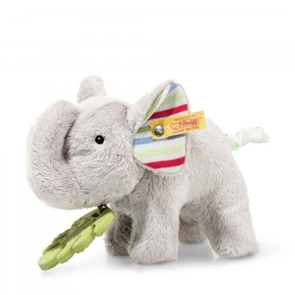 Steiff 242021 Wild Sweeties Timmi Elefant mit Beißring und Knisterfolie 17 cm