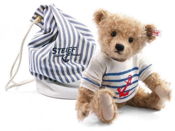 Steiff 035807 Teddybär Will 28 cm Mohair mit Seesack