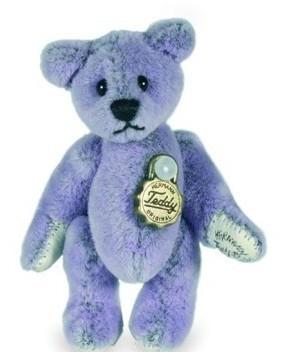 Teddy Hermann 153702 Teddy Lavendel Miniatur 4,5 cm
