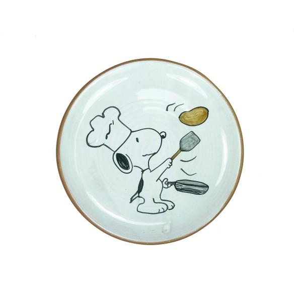 Terracotta Teller Snoopy mit Pfanne