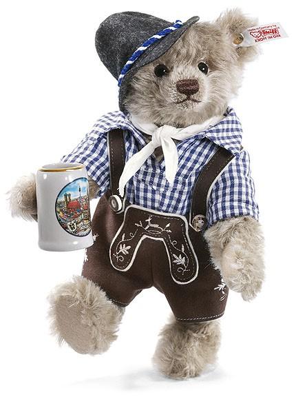 Steiff 673252 Xaver Teddybär 26 cm Mohair Oktoberfest