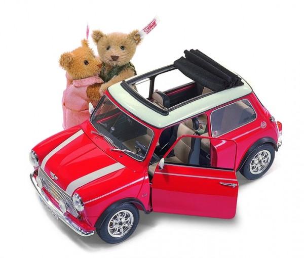 Steiff 656132 Mini Cooper Set mit zwei Teddybären