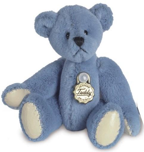 Teddy Hermann 153962 Teddy Blau Miniatur 5,5 cm