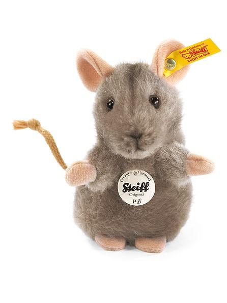 Steiff 056222 Piff Maus grau 10 cm aufwartend