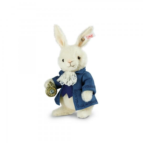 Steiff 034534 Vincent, das weiße Kaninchen Mohair weiß 17 cm