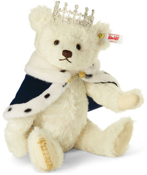 Steiff 664779 God Save the Queen Teddybär 30 cm mit Musikwerk