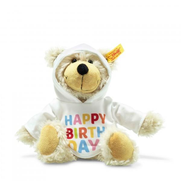 Steiff 012310 Charly Happy Birthday Schlenker-Teddybär mit Kapuzenpullover 23 cm