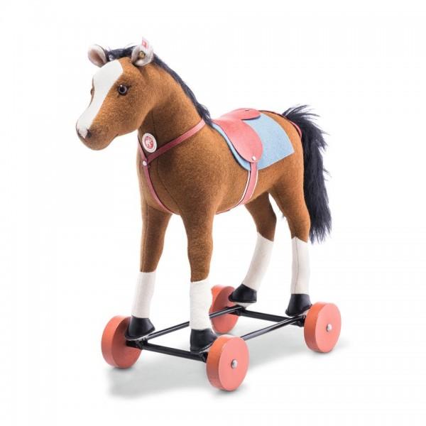 Steiff 006838 Friedhelms Pferd 32 cm braun auf Rädern