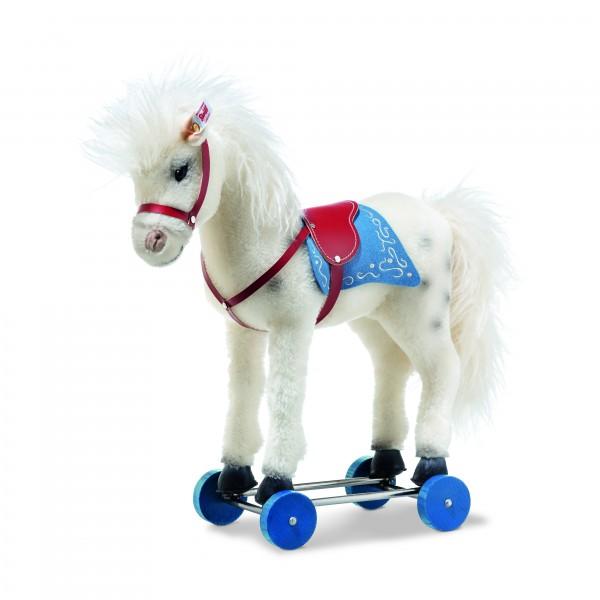 Steiff 006814 Olivia Pferd auf Rädern 43 cm