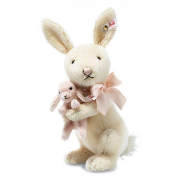 Steiff 683862 Rosie Rabbit and Baby Bunny