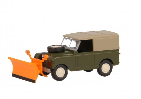 Wiking Land Rover mit Schneepflug
