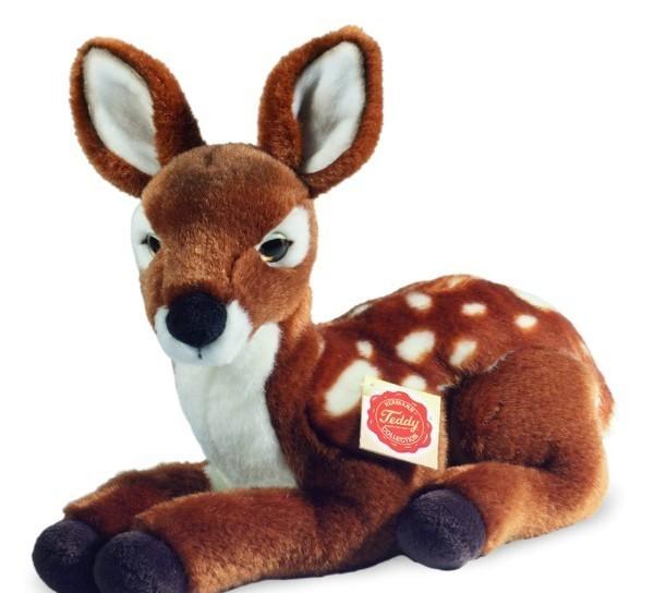 Teddy Hermann 908289 Bambi Reh Rehkitz liegend 28 cm