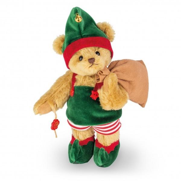 Teddy Hermann 148272 Weihnachtswichtel Teddybär 26 cm
